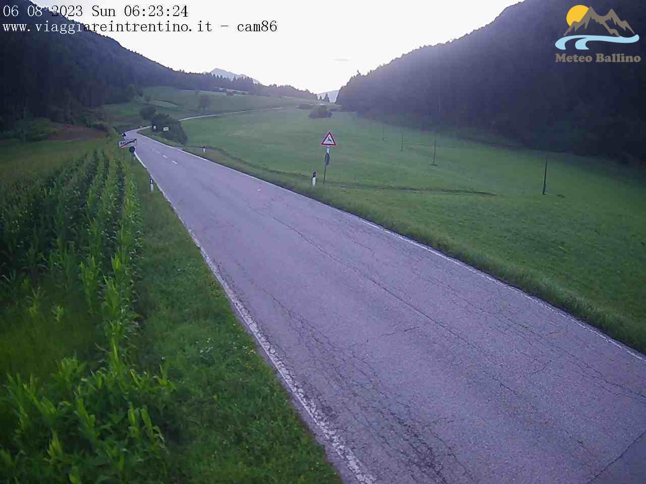 Webcam a cura di Viaggiare in Trentino. Puntamento verso NNE